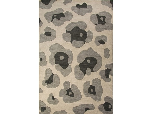 Jaipur Rugs Floor Coverings Hand-Tufted Animal Print Pattern Gray Wool (8x10) Area Rug (SKU: RUG124900)